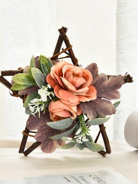 Lovely Wood Flower Christmas Wreaths