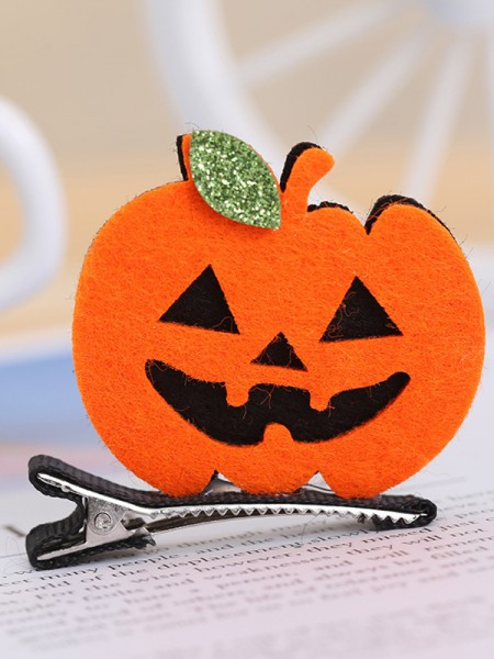 Halloween Stunning Metal With Pumpkin Hairpins For Children