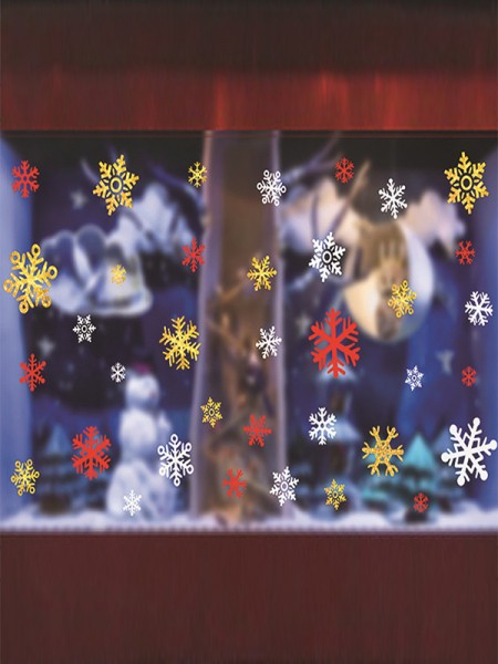 Christmas Fashionable PVC Static Stickers