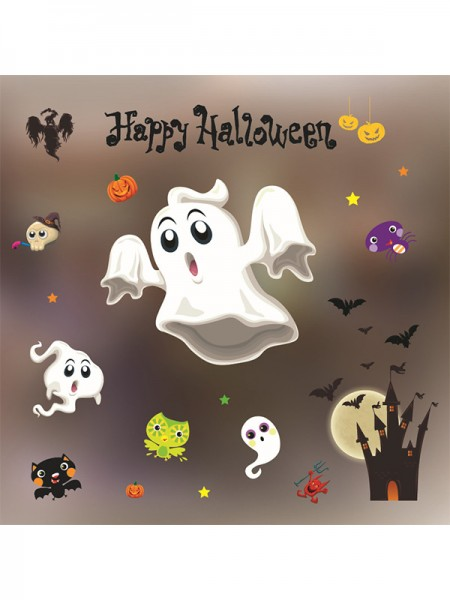 Halloween Stunning Paper Static Stickers