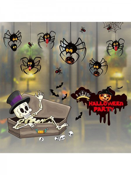 Halloween Charming Paper Static Stickers