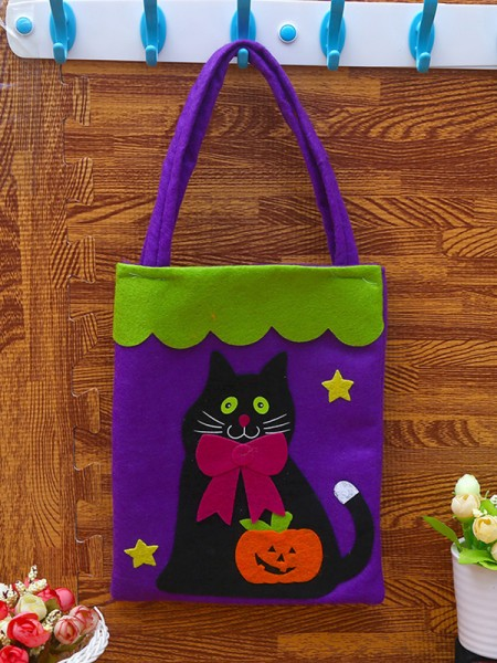Halloween Beautiful Nonwoven Fabric Handbags