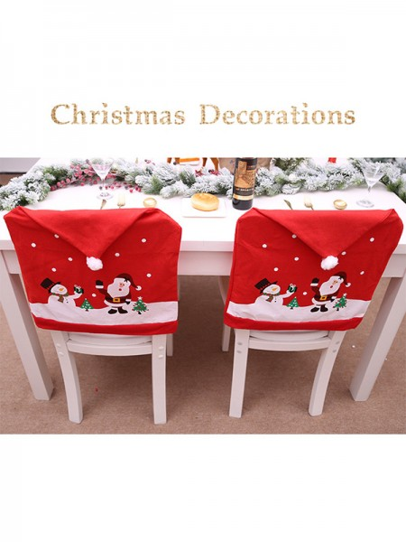 Christmas Lovely Nonwoven Fabric Chair Cover