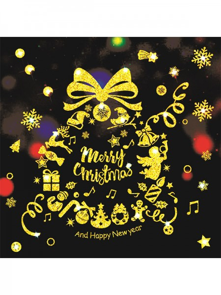 Christmas Elegant PVC Static Stickers