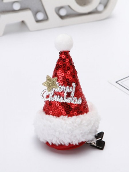 Christmas Nice Cloth With Hat Hairpins
