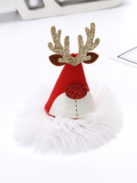 Christmas Brilliant Cloth With Hat Hairpins