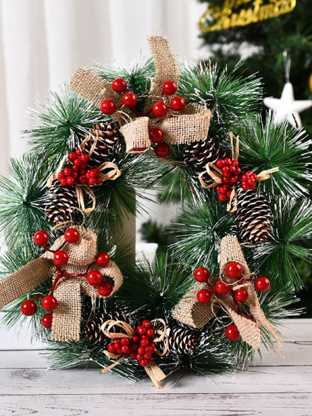 Pretty PVC Bowknot Christmas Wreaths