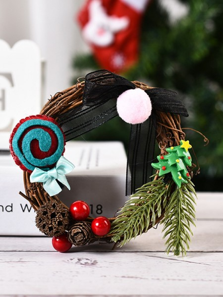 Excellent Wood Bowknot Christmas Wreaths