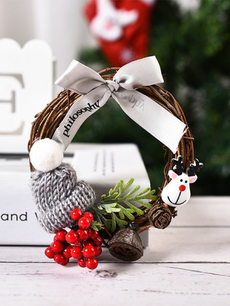 New Hot Wood Bowknot Christmas Wreaths