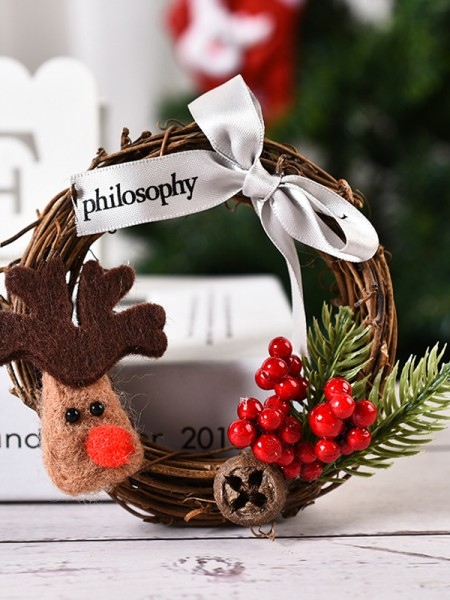 Hot sale Wood Deer Christmas Wreaths