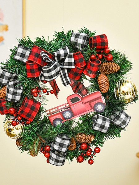 Fashion Wood Car Christmas Wreaths