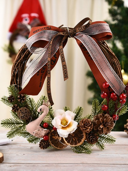 Trending Wood Swan Christmas Wreaths