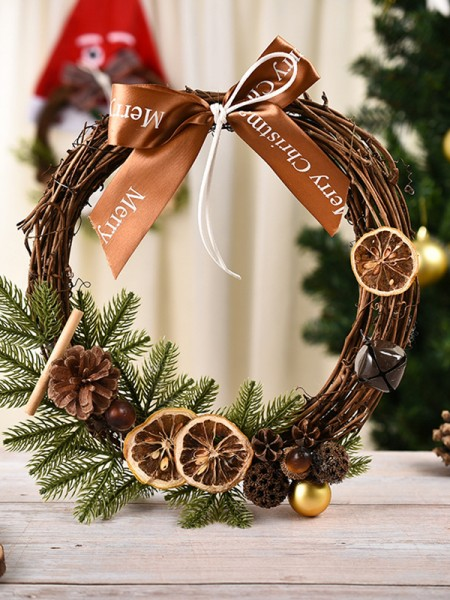 Sweet Wood Lemon Christmas Wreaths