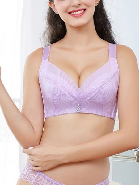 Comfy Lace With Rhinestone Push Up Bras