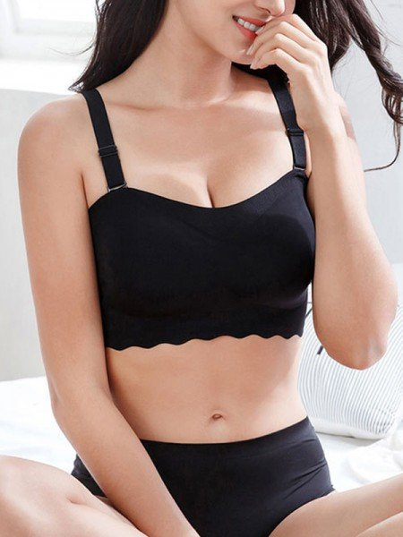 Simple Full Coverage Nylon Back Closure Bras