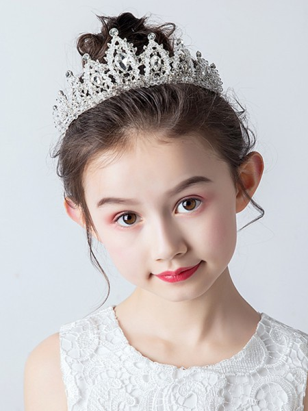 Fascinating Alloy With Rhinestone Tiaras