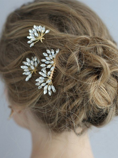 Fascinating Alloy With Rhinestone Headpieces