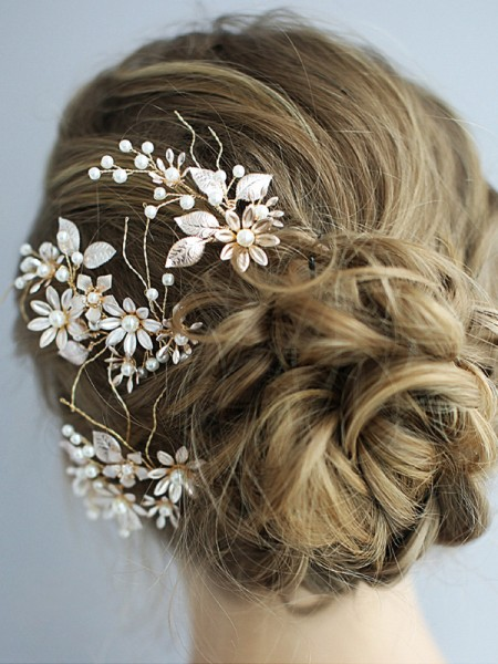 Stunning Alloy With Pearl Headpieces