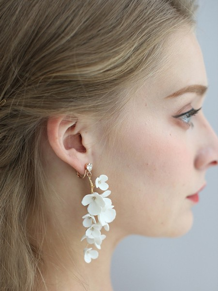 Sweet Alloy With Flower Women's Earrings