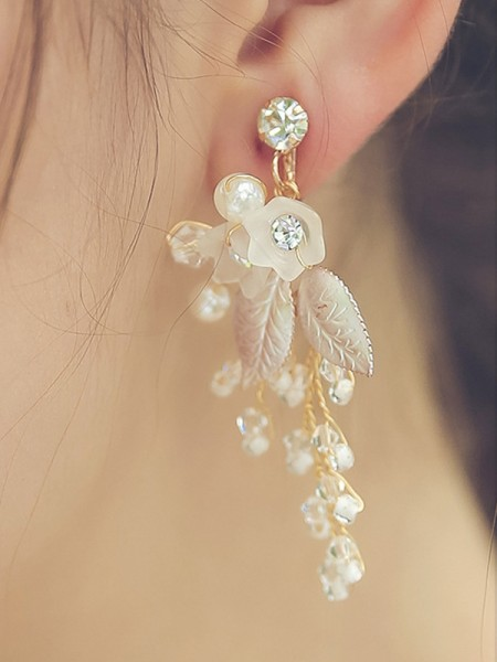 Trending Alloy With Beads Hot Sale Earrings For Women