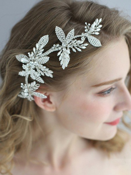 Exquisite Alloy With Crystal Headpieces