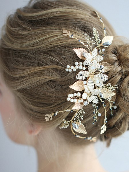 Graceful With Pearl Alloy Headpieces