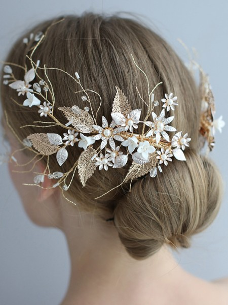 Glamorous Alloy With Flower Headpieces