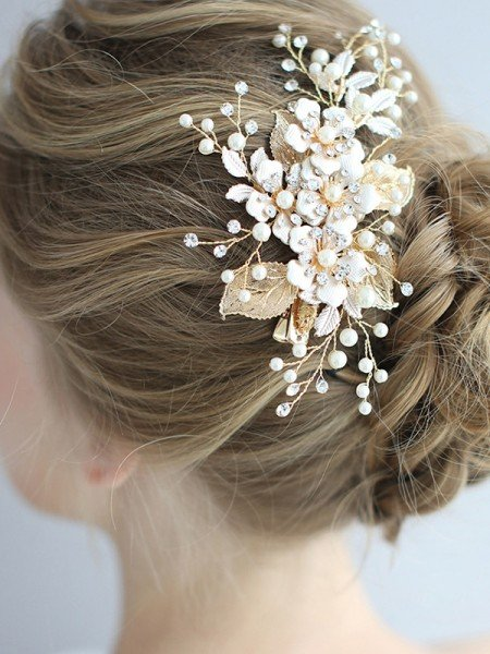 Beautiful Alloy With Pearl Headpieces