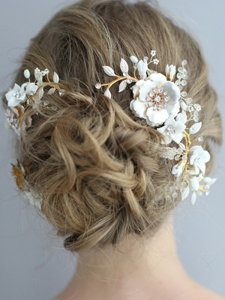 Shinning Alloy With Flower Headpieces
