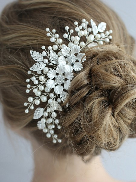 Exquisite Alloy With Pearl Headpieces