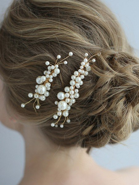 Fashion Alloy With Pearl Headpieces