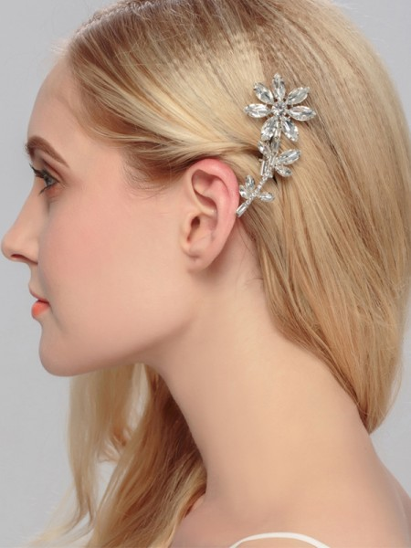 Awesome Alloy With Rhinestone Hairpins