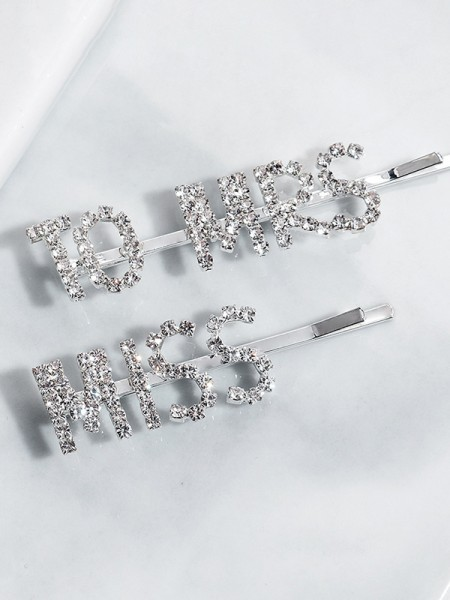 Chic Alloy With Rhinestone Hairpins(2 Pieces)