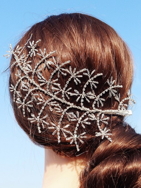 Luxurious Alloy With Rhinestone Hairpins