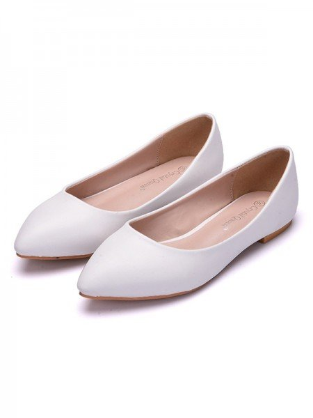 Women's PU Closed Toe Flat Heel Flat Shoes