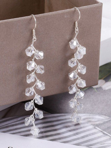 Korean Trending S925 Silver With Crystal Earrings