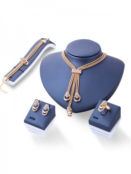 Fashion Rhinestone Ladies's Hot Sale Jewelry Set