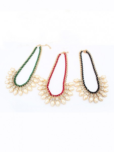 Occident Stylish Exquisite Pearls Water drop Hot Sale Necklace