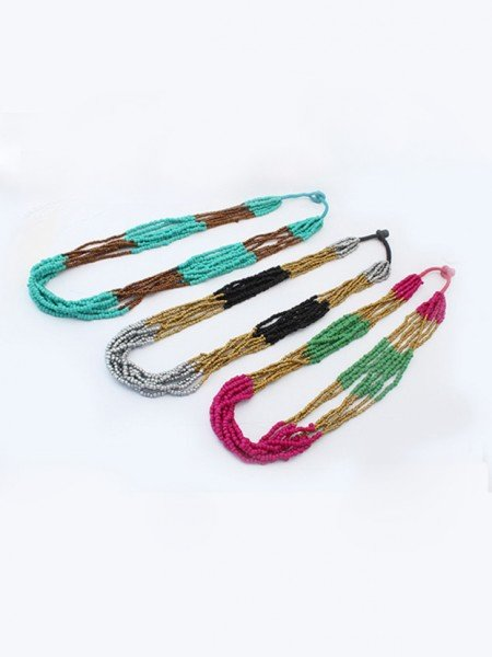 Occident Exotic Stylish Multi-layered Seed Pearls Hot Sale Necklace