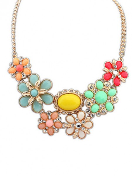 Occident Bohemia Style Big Flower Hot Sale Necklace