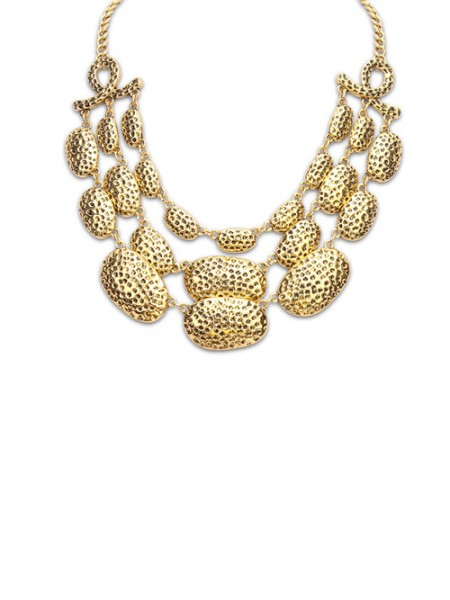 Occident Trendy New Metallic Multi-Layered Hot Sale Necklace