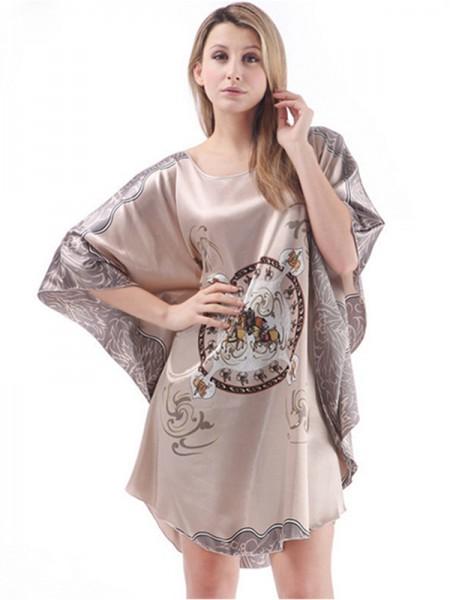 Comfortable Silk like Satin Print Pajamas