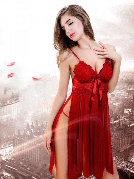 Charming Tulle Nightwear