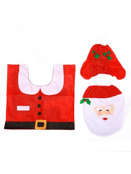 Christmas Trending Santa Claus Cloth Toilet Cover