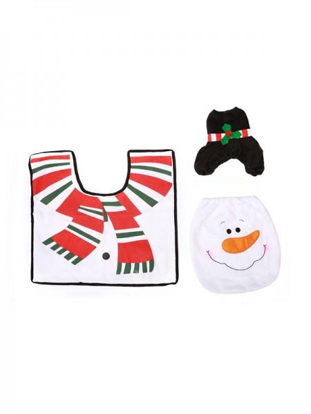 Christmas Gorgeous Snowman Cloth Toilet Cover