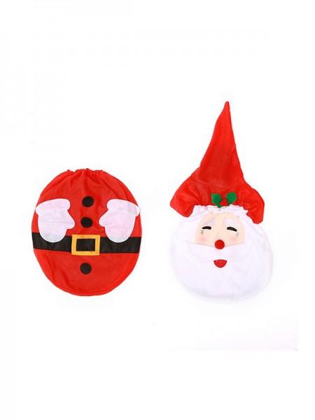 Christmas Hot Sale Santa Claus Cloth Toilet Cover