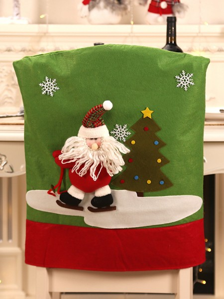 Christmas Beautiful Cloth With Santa Claus Seat Cover