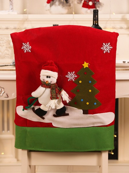 Christmas Attractive Cloth With Snowman Seat Cover