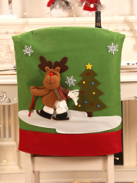 Christmas Quite Amazing Cloth With Wapiti Seat Cover