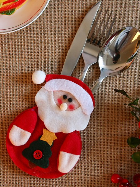 Christmas Pretty Santa Claus Cutlery Cover